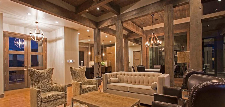 Interior Beams Truss Mantle Rustic Wood Reclaimed