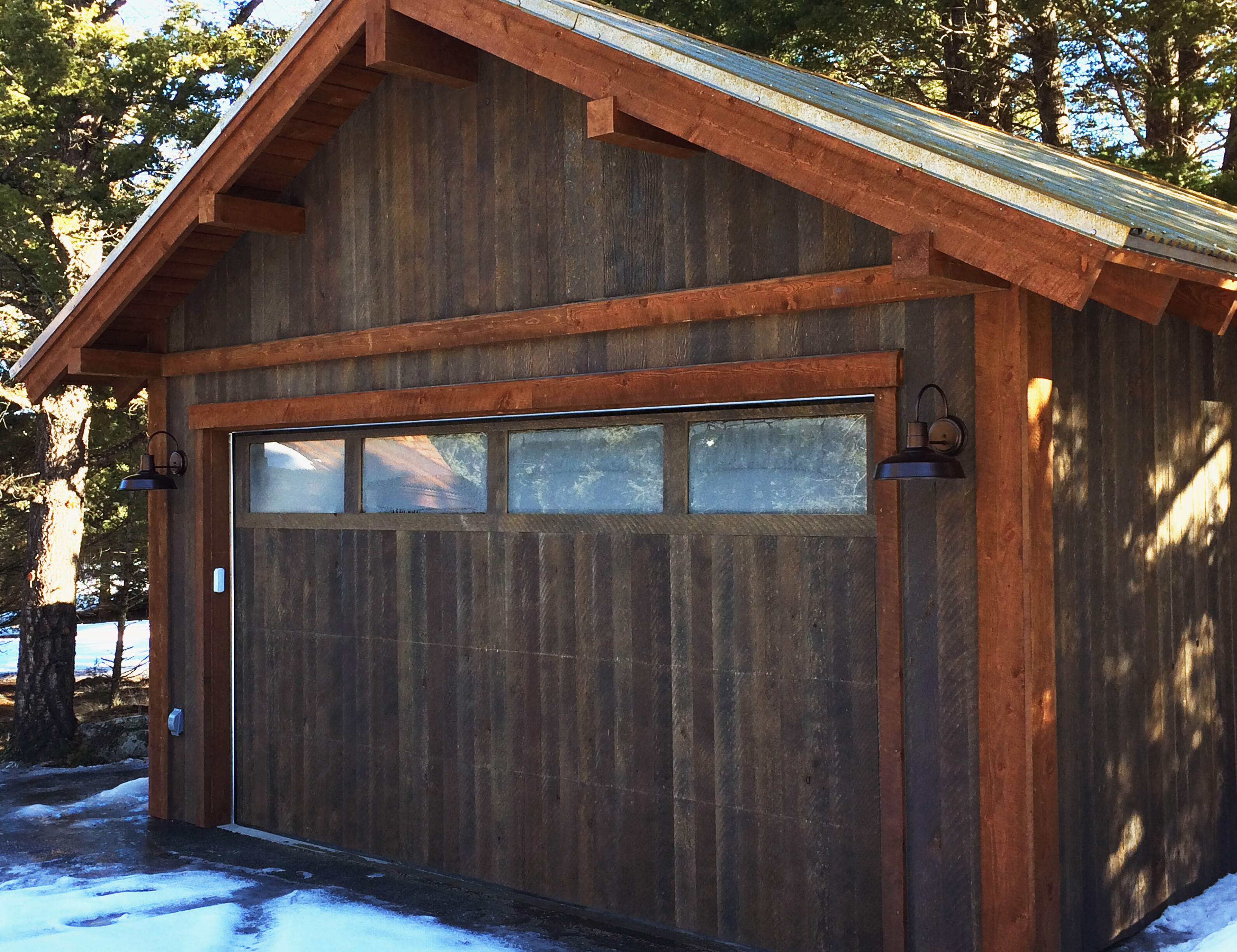 Barn wood alternative ranchwood siding and aquafir for New garage