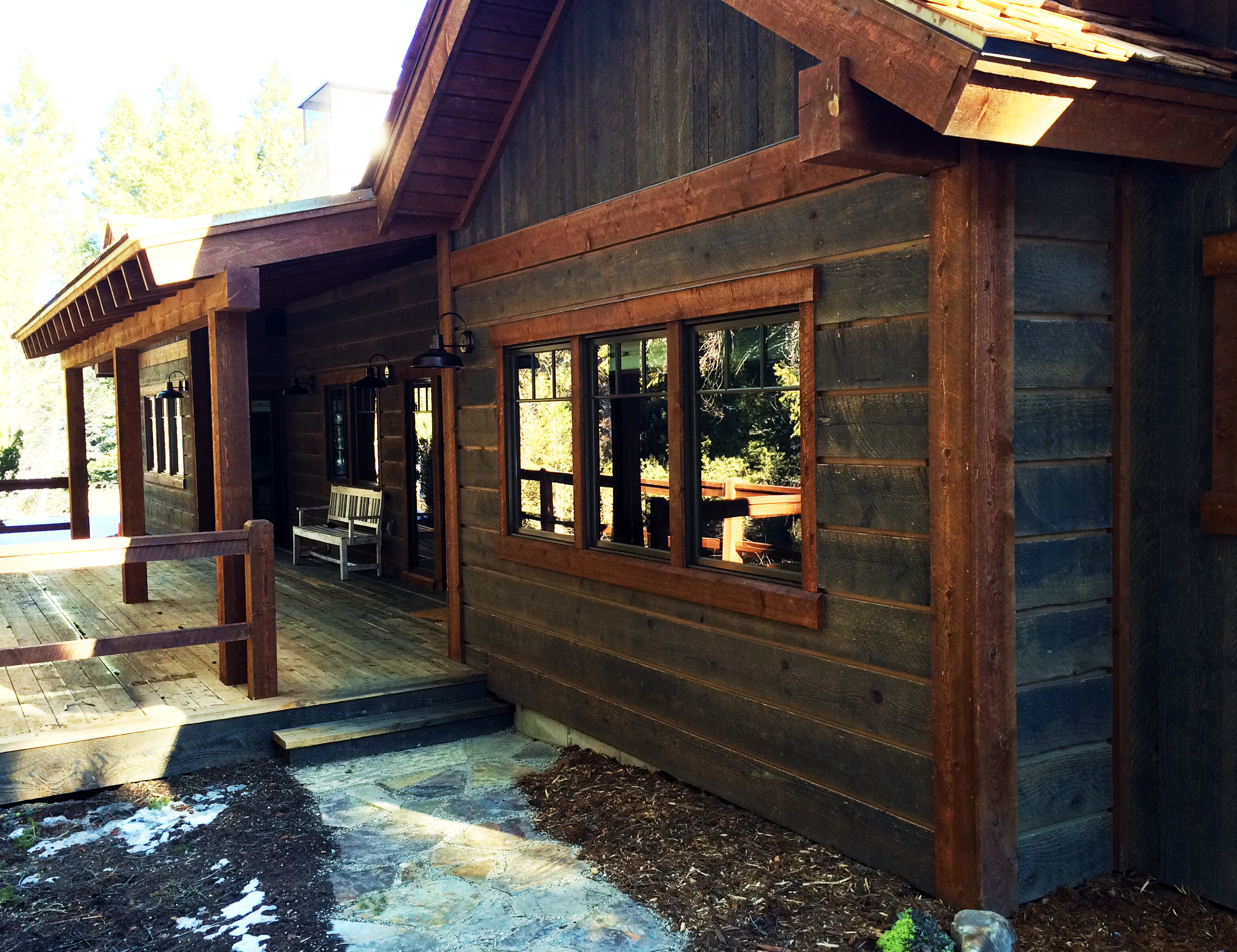 Mountain rustic prefinished reclaimed barn wood for Recycled wood siding