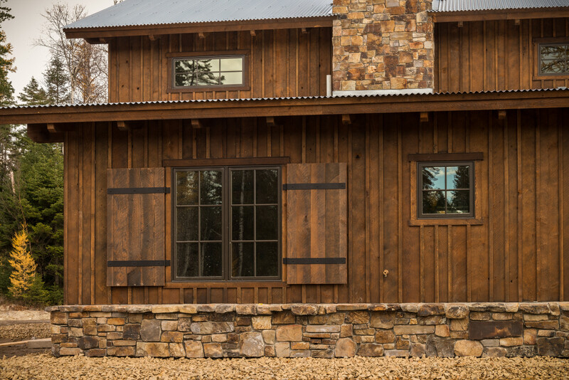 Ranchwood tackroom montana timber products for Best wood for board and batten siding